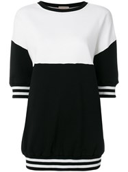 Alice Olivia Colour Block Short Sleeve Sweatshirt Black
