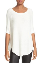 Alice Olivia Women's Parcell Wool Blend Curved Hem Tunic