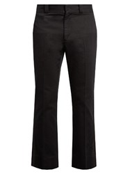 Marc Jacobs Metallic Stripe Straight Leg Cotton Trousers Black