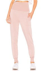 Beyond Yoga Cozy Fleece Foldover Sweatpant Mauve