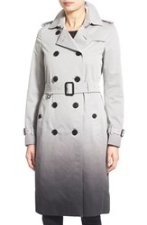 Women's Burberry London 'Kensington' Ombre Double Breasted Trench Coat