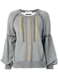 Muveil Embroidered Sweater Grey