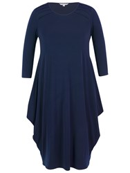 Chesca Jersey Drape Dress Navy