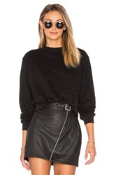 Cotton Citizen The Milan Cropped Sweatshirt Black