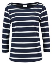 Vila Vistriped Long Sleeved Top Total Eclipse Dark Blue