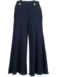 Dorothee Schumacher Cropped Wide Leg Jeans Blue
