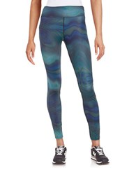 Bench Wave Patterned Athletic Pants Blue