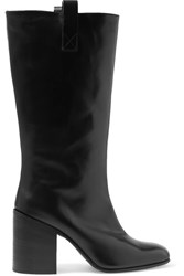 Acne Studios Bamy Leather Knee Boots Black