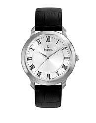 Bulova Mens Dress Collection Watch Silver