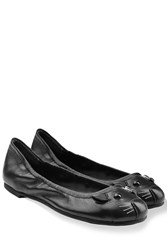 Marc By Marc Jacobs Leather Mouse Ballet Flats Black