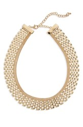 Leith Metal Collar Necklace Gold