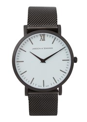 Larsson And Jennings Chain Metal Anthracite Plated Watch Black