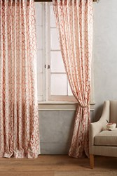 Anthropologie Wakefield Curtain Coral