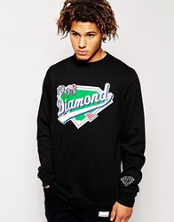 Diamond Supply Co. Diamond Supply Homeplate Crew Sweatshirt Black