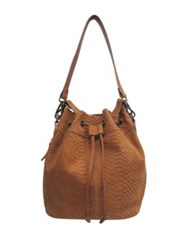 Chinese Laundry Ally Suede Bucket Crossbody Bag Wine