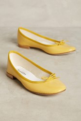 Anthropologie Repetto Cendrillon Ballet Flats Yellow