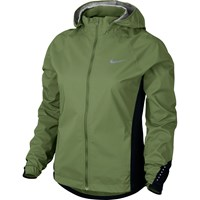 Nike Hypershield Women's Running Jacket Green Black