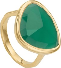 Monica Vinader Siren 18Ct Gold Plated Green Onyx Ring