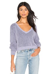 Free People High Low V Sweater Lavender