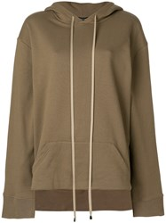 Unconditional Oversized Drawstring Hoodie Brown