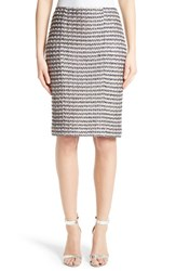 St. John Women's Collection Vany Tweed Knit Pencil Skirt
