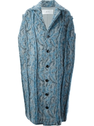 Julien David Woven Cape Blue