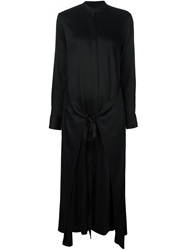 Rosetta Getty Loose Fit Long Shirt Dress Black