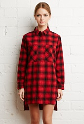 Forever 21 Tartan Plaid Flannel Dress Red Black