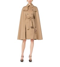 Wool Melton Trench Cape