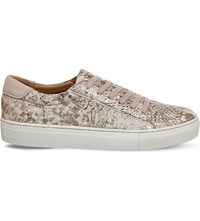 Office Axel Python Print Leather Trainers Rose Snake Leather
