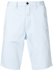 Emporio Armani Straight Fit Deck Shorts Blue