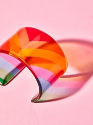 Free People Lucite Colorblock Cuff