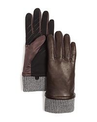 Urban Research Ur Leather Tech Gloves Brown