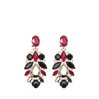 Anton Heunis Crystal Leaf Shape Exclusive Earrings