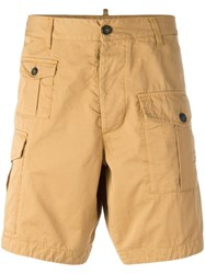Dsquared2 Cargo Shorts Yellow Orange