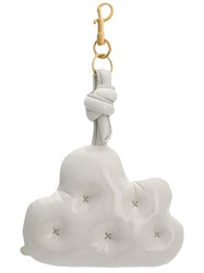 Anya Hindmarch Quilted Cloud Keyring White