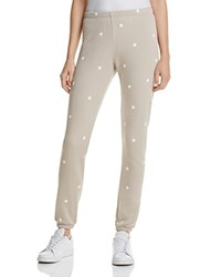 Wildfox Couture Knox Football Star Sweatpants Warm Cement