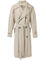 Damir Doma Clay Coat Nude And Neutrals
