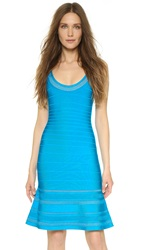 Herve Leger Hailee Dress Bright Turquoise