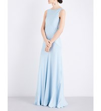 Ghost Taylor Satin Dress Sky Light
