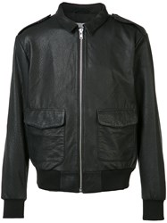 Wesc Front Pocket Leather Jacket Men Leather Polyester S Black