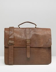 Asos Smart Satchel In Tan Tan Brown