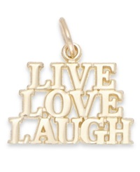 Macy's Live Laugh Love Stacked Charm In 14K Gold