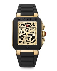 Michele Park Jelly Bean Watch Black Cheetah