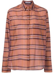 Christian Wijnants Talma Plaid Shirt Orange