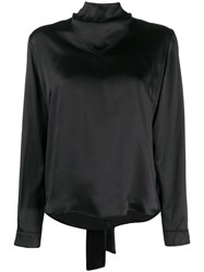 Le Kasha Kizil Bow Fastened Blouse Black