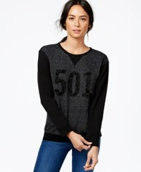 Levi's Graphic Colorblocked Crew Sweatshirt Charcoal