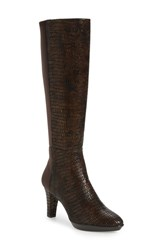 J. Renee Women's 'Callysta' Knee High Platform Boot Chocolate Leather