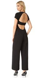 Alexander Wang Crepe Open Back Jumpsuit Black