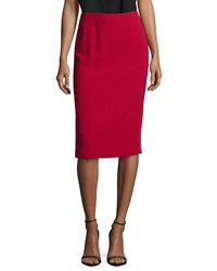 Lafayette 148 New York Pencil Skirt W Satin Side Seams Snapdragon